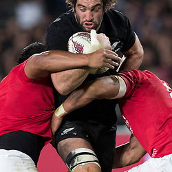 Sam Whitelock during game 7 of the British and Irish Lions 2017 Tour of New Zealand, the first Test match between  The All Blacks and British and Irish Lions, Eden Park, Auckland, Saturday 24th June 2017<br /> (Photo by Kevin Booth Steve Haag Sports)<br /> <br /> Images for social media must have consent from Steve Haag