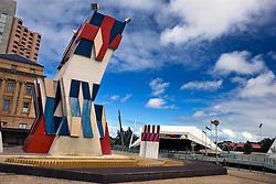 Street sculpture in front of the Adelaide Festival Center, Adelaide, South Australia, Australia