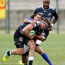 DURBAN, SOUTH AFRICA, 23, April 2016 -  Kerron van Vuuren of the Cell C Sharks XV during the  Currie Cup Qualifiers match between The Cell C Sharks XV vs Windhoek Draught Welwitschias,King Zwelithini Stadium, Umlazi, Durban, South Africa. Kevin Sawyer (Steve Haag Sports) images for social media must have consent from Steve Haag
