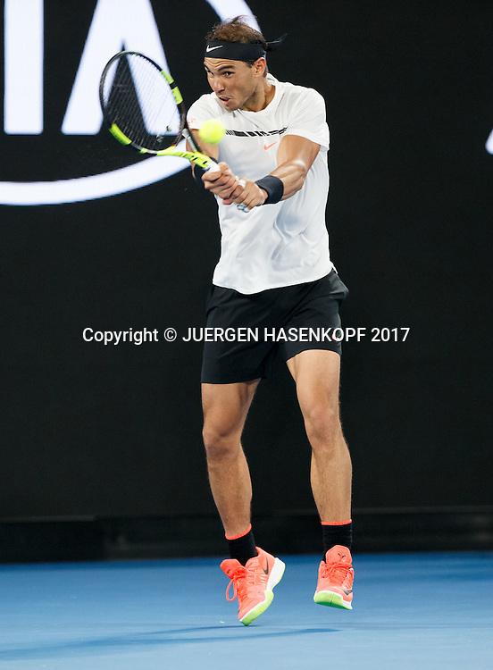 RAFAEL NADAL (ESP)<br /> <br /> Australian Open 2017 -  Melbourne  Park - Melbourne - Victoria - Australia  - 23/01/2017.