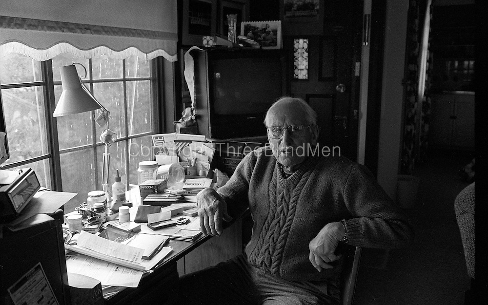 Wilhelm Leembrugen in his study. at home in Melbourne