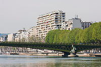 Seine in Paris France in Spring time of May 2008