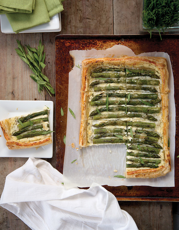 Asparagus tart for the spring/summer party appetizers story in the May issue of Capital Style. (Will Shilling/Capital Style)