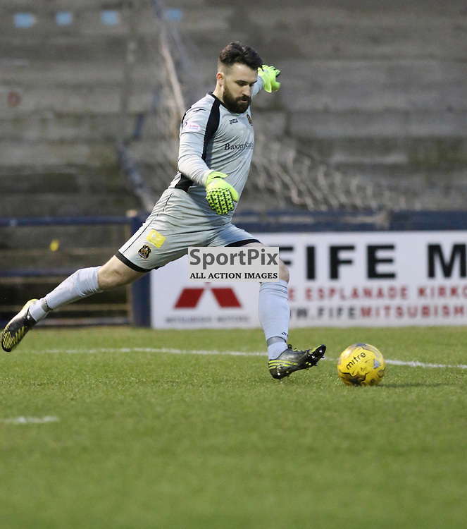 A rare start for Jamie Ewings during the Raith Rovers v Dumbarton  Scottish Championship 23 January 2016<br /> <br /> (c) Andy Scott | SportPix.org.uk