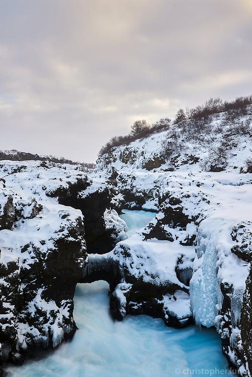 Barnafoss in river Hvíta, Iceland.