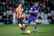 Josh Cullen (Bradford City) plays the ball infield during the EFL Sky Bet League 1 match between Bradford City and Charlton Athletic at the Coral Windows Stadium, Bradford, England on 10 December 2016. Photo by Mark P Doherty.