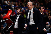 Ettore Messina<br /> A|X Armani Exchange Olimpia Milano - Grissin Bon Reggio Emilia<br /> Basket Serie A LBA 2019/2020<br /> Milano 01 December 2019<br /> Foto Mattia Ozbot / Ciamillo-Castoria