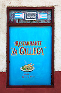 Restaurant sign in Jaruco, Mayabeque, Cuba.