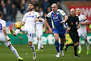 Leeds United midfielder Mateusz Klich (43) during the EFL Sky Bet Championship match between Wigan Athletic and Leeds United at the DW Stadium, Wigan, England on 4 November 2018.