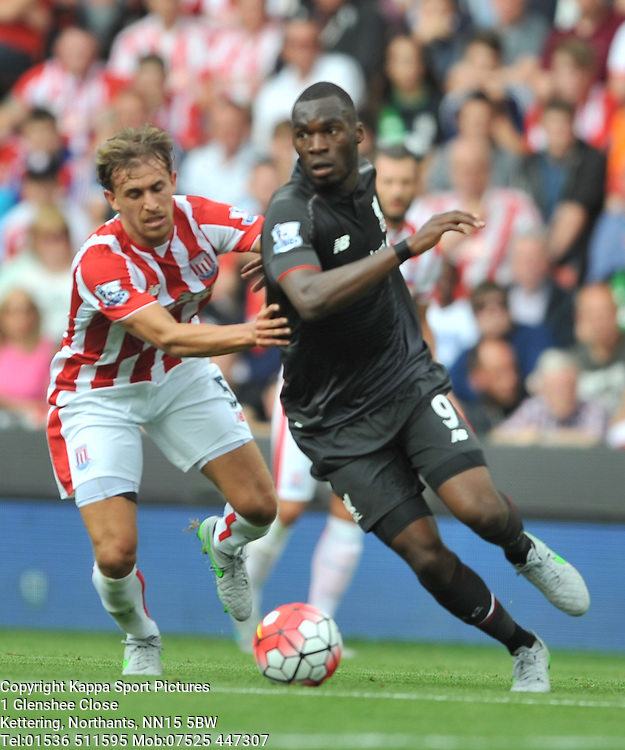 CHRISTIAN BENTEKE Liverpool FC, Stoke City v Liverpool, Premiership, Britannia Stadium Sunday 9th August 2015Stoke City v Liverpool, Premiership, Britannia Stadium Sunday 9th August 2015
