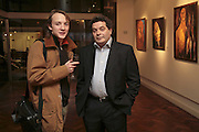 Boris Leonov and Michael  Rogatchi, The Real Dream, private view for an exhibition of work by Michael Rogatchi. Cork St. London.  5 December 2006. ONE TIME USE ONLY - DO NOT ARCHIVE  © Copyright Photograph by Dafydd Jones 248 CLAPHAM PARK RD. LONDON SW90PZ.  Tel 020 7733 0108 www.dafjones.com