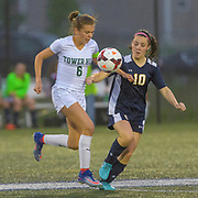 Sanford - Tower Hill Girls Soccer Semifinal match at Dover High School on Wednesday 30 May 2018. Photograph by Jim Graham