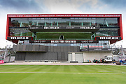 Old Trafford Media centre before the Vitality T20 Blast North Group match between Lancashire Lightning and Leicestershire Foxes at the Emirates, Old Trafford, Manchester, United Kingdom on 30 August 2019.
