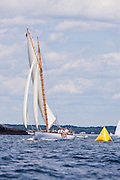 Nellie sailing in the Corinthian Classic Yacht Regatta.