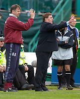 Photo: Alan Crowhurst. Brighton and Hove Albion v Ipswich Town, Coca-Cola Championship, 08/05/2005, Brighton manager Mark McGhee is in sync with his assistant Bob Booker.