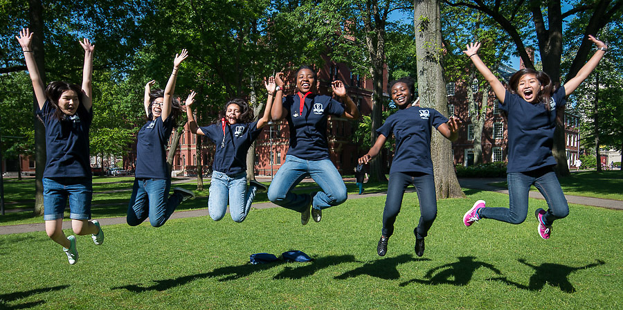Houston ISD EMERGE students tour Harvard, June 3, 2014.