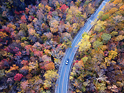 Fall foliage along Route 73 in Goshen, Vermont.