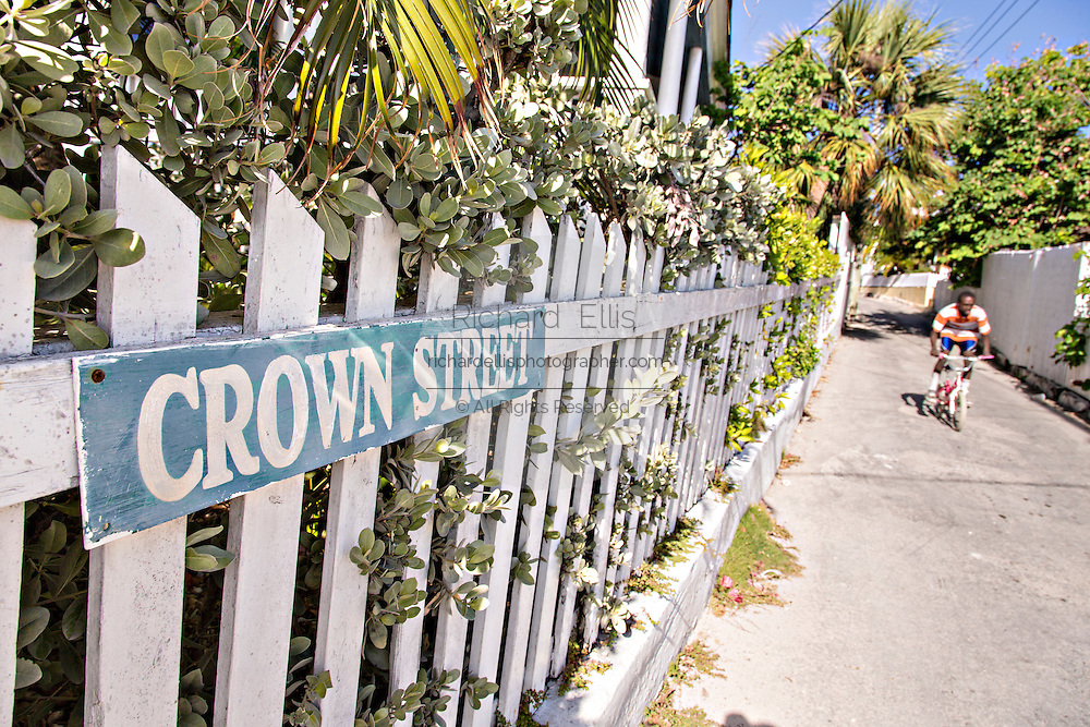 Old picket fence in Dunmore Town, Harbour Island, The Bahamas