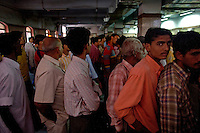 Long lines await travelers as they wait for tickets as the train station in Jaipur City india Nov. 15, 2006 Jaipur India.    (photo by Darren Hauck).....................