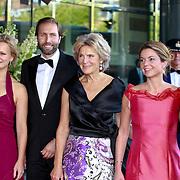 NLD/Amsterdam/20110527 - 40ste verjaardag Prinses Maxima, Prinses Carolina , Tjalling Ten Cate,Prinses Irene,Prinses Annemarie en Prins Carlos