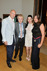 Left to right, DYLAN JONES, NICK RHODES,  NEFER SUVIO and TRACEY EMIN at the annual Royal Academy of Art Summer Party held at Burlington House, Piccadilly, London on 4th June 2014.