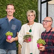 NLD/Zoetermeer/20170904 -  Opening week Alfabetiseringsweek, Pr. Laurentien met 2 taalambassadeurs
