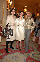 Left to right, SAFFRON ALDRIDGE, KATERINA FOMICHEV and JENNY HALPERN PRINCE at a ladies lunch in aid of the NSPCC held at The Ritz, Piccadilly, London on 7th March 2006.<br />
