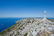Sv Nikola, the highest point on the island of Hvar, Croatia