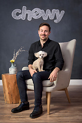Ryan Cohen, CEO of Chewy, with his dog Tylee.