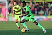 Forest Green Rovers Reece Brown(10) runs forward during the EFL Sky Bet League 2 match between Forest Green Rovers and Morecambe at the New Lawn, Forest Green, United Kingdom on 17 November 2018.
