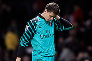 Goalkeeper Wojciech Szczesny of Arsenal looks dejected at the end of the game