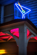 Image of a martini neon sign in Point Reyes Station, California, America west coast