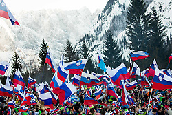 Supporters during the Ski Flying Hill Individual Competition at Day 2 of FIS Ski Jumping World Cup Final 2016, on March 18, 2016 in Planica, Slovenia. Photo by Vid Ponikvar / Sportida