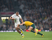 Twickenham, Great Britain,    Antony WATSON, with an early break during the Pool A game, England vs Australia.  2015 Rugby World Cup, Venue, RFU Stadium, Twickenham, Surrey, ENGLAND.  Saturday  03/10/2015<br /> Mandatory Credit; Peter Spurrier/Intersport-images], rsport-images]