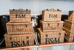 Luxury British food store Fortnum and Mason open first overseas outlet in pavilion next to Dubai Mall in Dubai United Arab Emirates