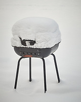 Snow covered grill. Image taken with a Fuji X-T1 camera and 90 mm f/2 lens (ISO 200, 90 mm, f/5.6, 1/300 sec)