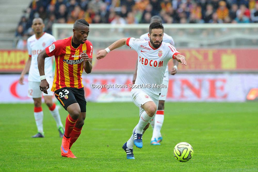JOAO MOUTINHO / Wylan CYPRIEN - 26.04.2015 - Lens / Monaco - 34eme journee de Ligue 1<br />Photo : Nolwenn Le Gouic / Icon Sport