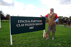 CHARLES FINCH at the Finch & Partners Clay Pigeon Shoot at the Holland & Holland Shooting Ground, Ruislip, Middlesex on 17th October 2007.<br />