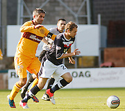 Dundee's Martin Boyle goes past Motherwell's Keith Lasley  - Dundee v Motherwell, Clydesdale Bank Scottish Premier League at Dens Park.. - © David Young - 5 Foundry Place - Monifieth - DD5 4BB - Telephone 07765 252616 - email: davidyoungphoto@gmail.com - web: www.davidyoungphoto.co.uk