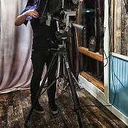 Adrian Whipp, tintype photographer, of Lumiere Tintype Photobooth in Austin, Texas.