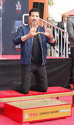 Lionel Richie at Lionel Richie Hand And Footprint Ceremony held at the TCL Chinese Theatre in Hollywood, USA on March 7, 2018.