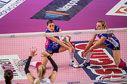 27-11-2016 ITA: Gorgonzola Igor Volley Novara - Nordmeccanica Modena, Novara<br /> Nova wint in drie sets van Modena / Francesca Piccinini #12, Judith Pietersen #8