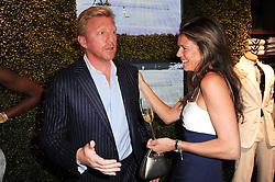BORIS BECKER and ANNABEL CROFT at the Ralph Lauren Wimbledon Party held at Ralph Lauren, 1 New Bond Street, London on 17th June 2010.