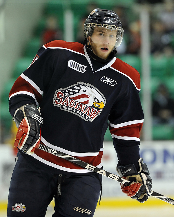 Anthony Camara of the Saginaw Spirit. Photo by Aaron Bell/OHL Images