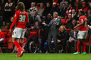 Jos&eacute; Riga Manager of Charlton Athletic looks on frustrated during the Sky Bet Championship match at The Valley, London<br /> Picture by David Horn/Focus Images Ltd +44 7545 970036<br /> 15/04/2014