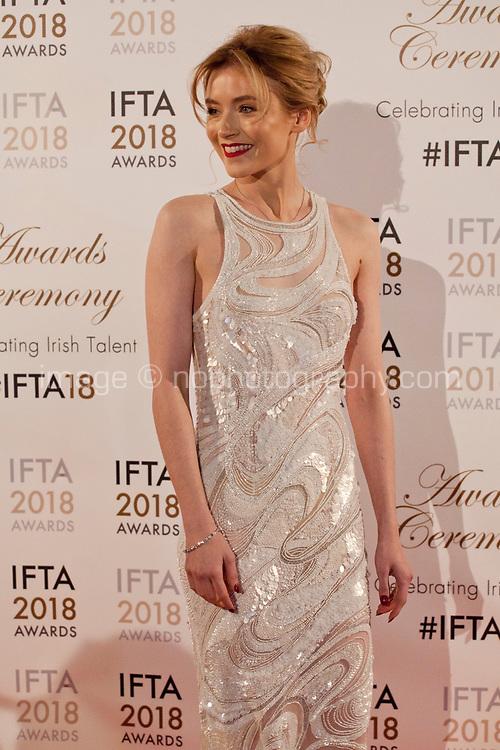 Sarah Bolger at the IFTA Film & Drama Awards (The Irish Film & Television Academy) at the Mansion House in Dublin, Ireland, Thursday 15th February 2018. Photographer: Doreen Kennedy