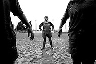 Playng a rugby match in a rainy sunday morning. ITALY