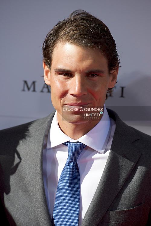 Rafael Nadal arrives at the Marca 75th anniversary at Callao Cinema on November 26, 2013 in Madrid