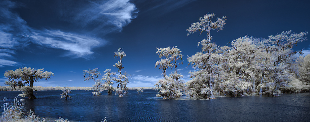 Infrared Panoramic Photograph–Near the Boat Launch