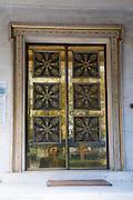 Decorated door, Panepistimio, Athens, Greece